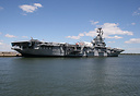 USS Intrepid, launched in 1943, and now part of the Intrepid Sea-Air-S...