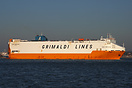 "Grimaldi Lines Ro-Ro vehicle carrier, ""Gran Bretagna"", passi..."