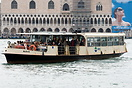 One of Venice's many water buses (vaporetto) operating on the Grand Ca...