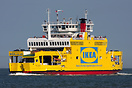 "IKEA liveried ""Red Osprey"" passing Calshot inbound to Southa..."