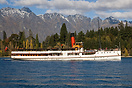 TSS Earnslaw (the 'Lady of the Lake') heads out on yet another cruise ...