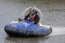 Angus Daly competing in one of the Junior hovercraft races during the ...