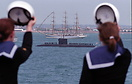 The 2005 International Fleet Review held off Spithead in the Solent. C...