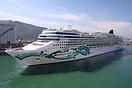 Norwegian Cruise Line 'Norwegian Jade' departing Barcelona