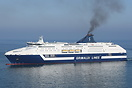 Grimaldi Lines ferry 'Cruise Roma' arriving at Barcelona from Civitave...