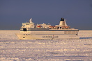 St. Peter Line ferry Princess Maria bound for St. Petersburg assisted ...