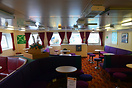 The port lounge of the Isle of Arran just after arrival in Brodick on ...