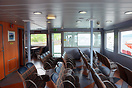 The passenger lounge on the MV Loch Shira