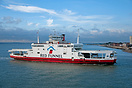 The Red Funnel, Southampton to Cowes (IOW) Car Ferry, Red Osprey, appr...