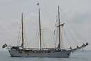 The Swedish sail training vessel, Alva, which was built in 1939, is se...