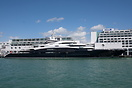 Superyacht Serene berthed at Princes Wharf for Auckland 175th Annivers...