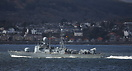 FGS ZobelP6125 German Navy fast patrol Vessel seen here at Gourock Sco...