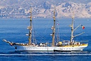 The Mircea is a three masted barque, built in 1938 in Hamburg by the B...
